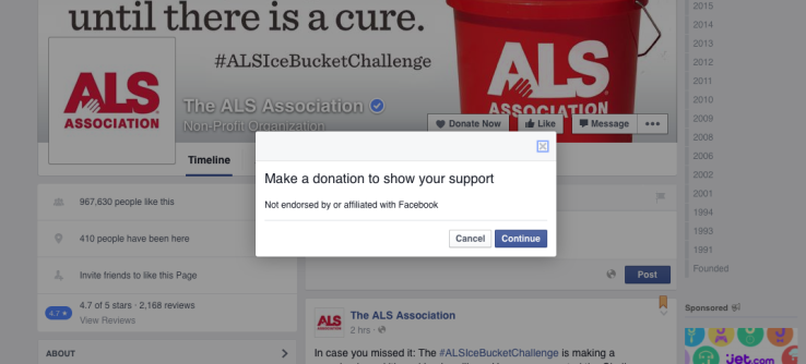 "Facebook now provides all nonprofits with ""Donate Now"" button"
